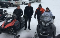 An International Snowmobile Jump: A World First in Acadian Lands and Forests